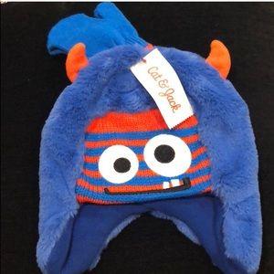 Cat & Jack monster hat & mittens 2-5 T